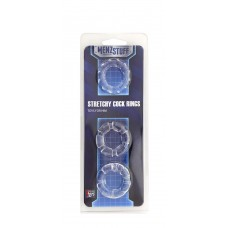 MENZSTUFF STRETCHY COCK RINGS CLEAR T