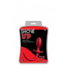 SHOVE UP 3.5INCH BUTTPLUG WITH TAIL RED