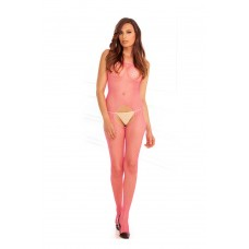 Industr. Net Suspender Bodystock. Pink